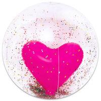 Giant 3D Heart Glitter Beach Ball