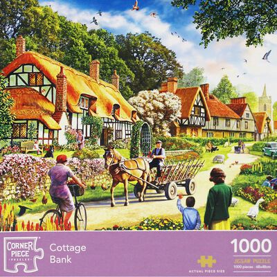 Cottage Bank 1000 Piece Jigsaw Puzzle image number 1