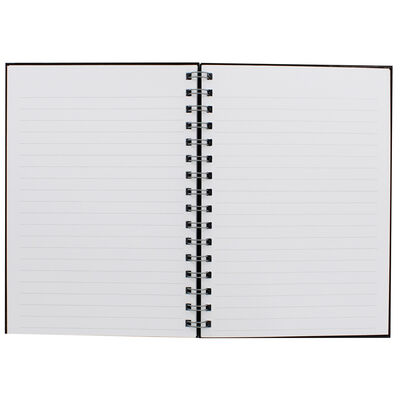 A5 Wiro Plain Black Lined Notebook image number 2