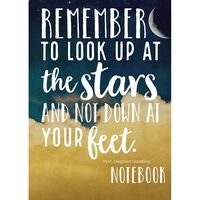 A5 Casebound Stars Quote Lined Notebook