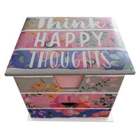 Think Happy Thoughts Memo Cube