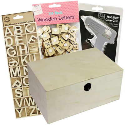 Easter Create Your Own Wooden Box: 35 x 25 x 17cm Bundle image number 1