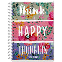 A5 Think Happy Thoughts 2022 Day a Page Diary