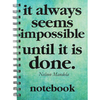 A5 Wiro Nelson Mandela Lined Notebook