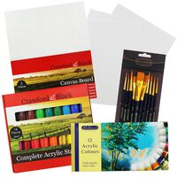 Ultimate Acrylic Paint & Canvas Bundle