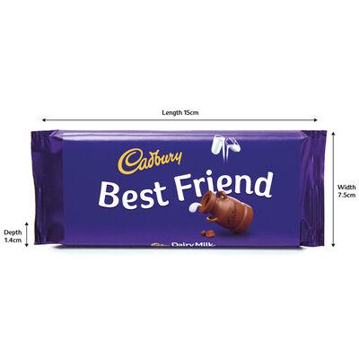 Cadbury Dairy Milk Chocolate Bar 110g - Best Friend image number 3