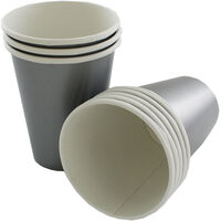 Silver Paper Cups - 8 Pack