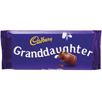 Cadbury Dairy Milk Chocolate Bar 110g - Granddaughter