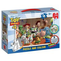 Toy Story 4 Jumbo Puzzle and Colour 18 Piece Jigsaw Puzzle