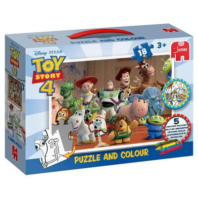 Toy Story 4 Jumbo Puzzle and Colour 18 Piece Jigsaw Puzzle image number 1