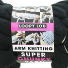 Loopy Lou Super Chunky Black Yarn - 250g image number 3