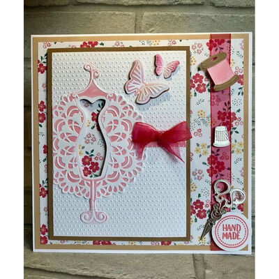 CC Sew Lovely Cut and Emboss Folder - Sewn with Love image number 2