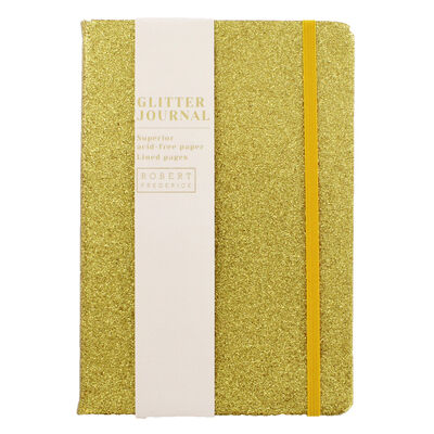 A5 Gold Glitter Cased Lined Journal image number 1
