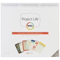 American Crafts: Project Life Coral 616 Piece Card Kit
