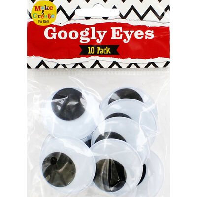 Large Googly Eyes: Pack of 10 image number 1