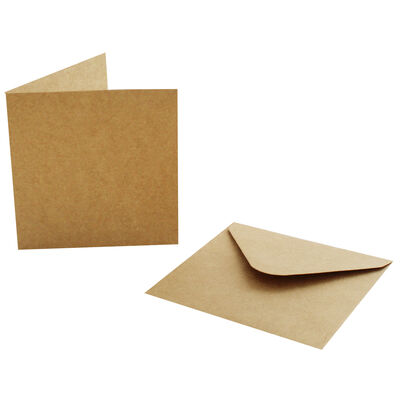 20 Small Kraft Cards and Envelopes - 9cm image number 3