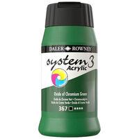 System 3 Acrylic Paint: Oxide of Chromium Green 500ml