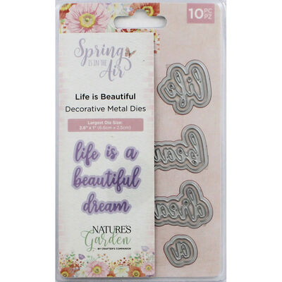 Crafters Companion Spring is in the Air Metal Die - Life is Beautiful image number 1