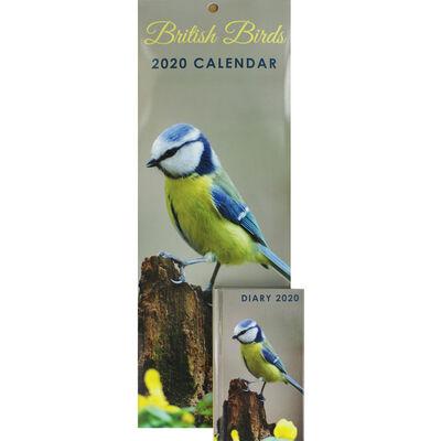 British Birds Slim 2020 Calendar and Diary Set image number 1