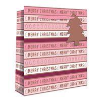Medium Pink Merry Christmas Gift Bag