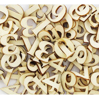 Natural Wooden Numbers: Pack of 150