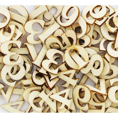 Natural Wooden Numbers: Pack of 150 image number 2