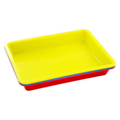 Coloured Plastic Craft Trays - 3 Pack image number 1
