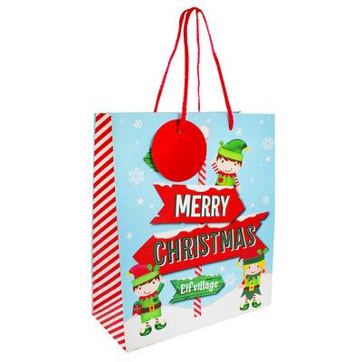 Medium Elf Text Gift Bag image number 1