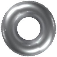 "Inflatable 20"" Shiny Metallic Swim Ring: Assorted"