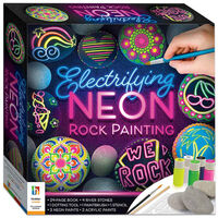 Electrifying Neon Rock Painting