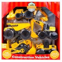 Construction Vehicles Set: 5 Pieces