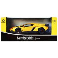 Lamborghini Veneno 1:24 Convertible Friction Car: Yellow