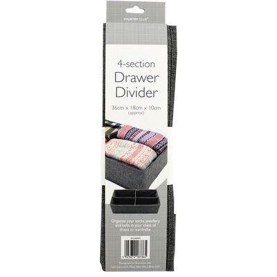 Grey 4-Section Drawer Divider Set image number 3