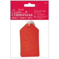 Assorted Glitter Gift Tags: Pack of 24