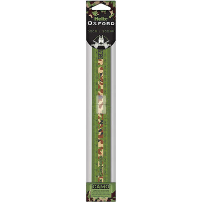 Helix Oxford Camo Green 30cm Folding Ruler image number 1