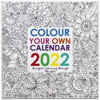 Colour Your Own 2022 Square Calendar