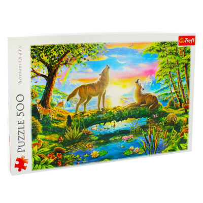 Lupine Nature 500 Piece Jigsaw Puzzle image number 1