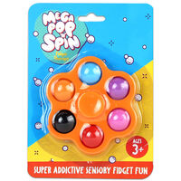 Mega Pop 'N' Spin Bubble Popping Fidget Game: Assorted