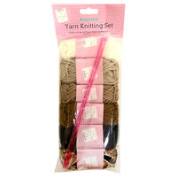 Assorted Neutral Yarn Knitting Set: Pack of 6