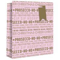 Large Pink Prosecco Ho Ho Gift Bag
