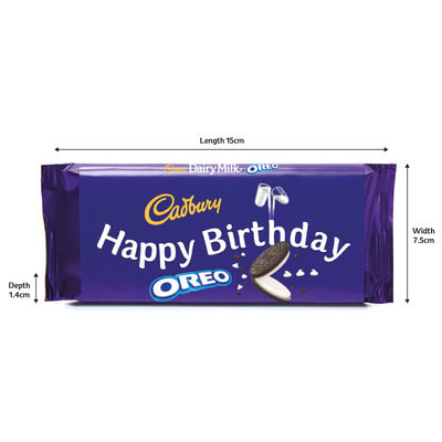 Cadbury Dairy Milk Oreo Chocolate Bar 110g - Happy Birthday image number 2