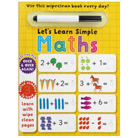 Let's Learn Simple Maths: Wipe Clean Activity Book