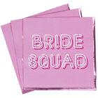 Pink Bride Squad Paper Napkins - 16 Pack image number 2
