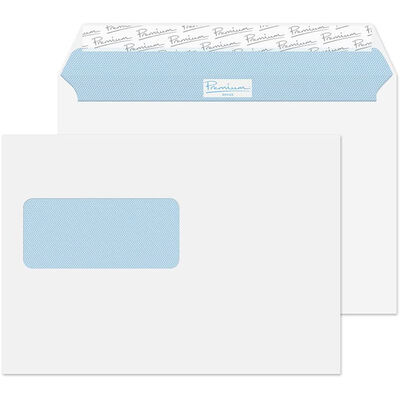 C5 White Wove Envelopes: Pack of 50 image number 1