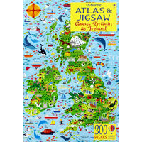 Usborne Great Britain and Ireland Atlas and 300 Piece Jigsaw