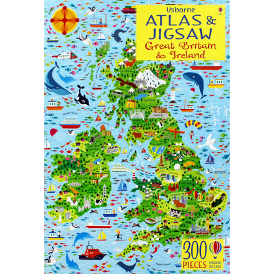 Usborne Great Britain and Ireland Atlas and 300 Piece Jigsaw image number 2