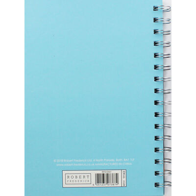 A5 Wiro Orange Flowers Lined Notebook image number 3