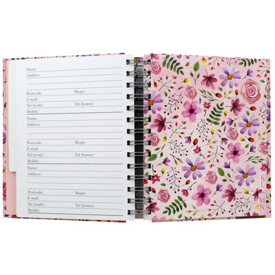 Pink Floral Telephone And Address Book image number 2