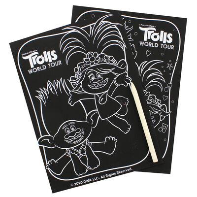 Trolls Scratch Art Set image number 2