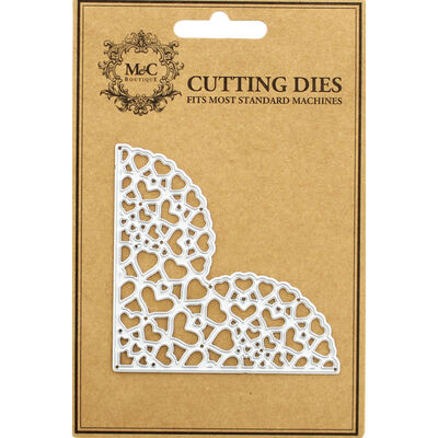 Corner Piece Hearts Metal Cutting Die image number 1